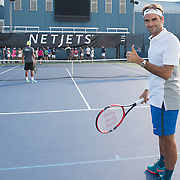 Aug 25, 2015 - NetJets Roger Federer Tennis Clinic - New York