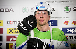 Ales Music of Slovenia after the 2017 IIHF Men's World Championship group B Ice hockey match between National Teams of Slovenia and Norway, on May 9, 2017 in Accorhotels Arena in Paris, France. Photo by Vid Ponikvar / Sportida