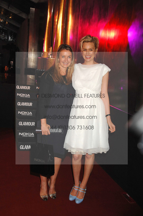 Left to right, ANYA HINDMARCH and ALICE EVANS at the Glamour magazine Women of the Year Awards held in the Berkeley Square Gardens, London W1 on 5th June 2007.<br /><br />NON EXCLUSIVE - WORLD RIGHTS
