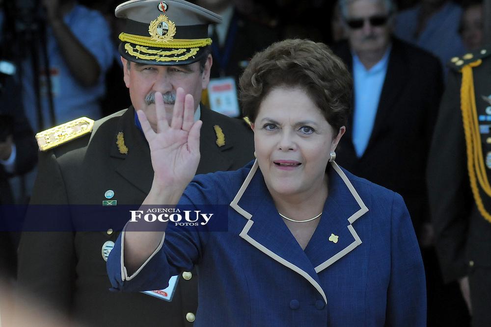 Montevideo, Uruguay. Dilma Ruseff Presidenta de Brasil en la Sede del Mercosur , fotos de archivo. Montevideo, Uruguay. Foto:Dante Fernández/Focouy