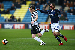 January 27, 2018 - London, United Kingdom - L-R Rochdale's Jim McNulty and Jed Wallace of Millwall.during FA Cup 4th Round match between Millwall against Rochdale  at The Den, London on 27 Jan 2018  (Credit Image: © Kieran Galvin/NurPhoto via ZUMA Press)