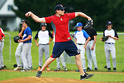 Mark Melancon during a training session with Major League Baseball pros Boston Red Sox pitcher Mark Melancon, San Diego Padres catcher Nick Hundley and Toronto Blue Jays infielder Chris Woodward at Lloyd Elsmore Park, Auckland. Wednesday 18 January 2011. Photo: Ella Brockelsby / photosport.co.nz