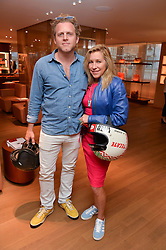 MAIA NORMAN and KAI PEETERS at a party to celebrate the launch of Le Jardin de Monsieur Li by Hermes in association with Mr Fogg's was held at Hermes, 155 New Bond Street, London on 9th July 2015.