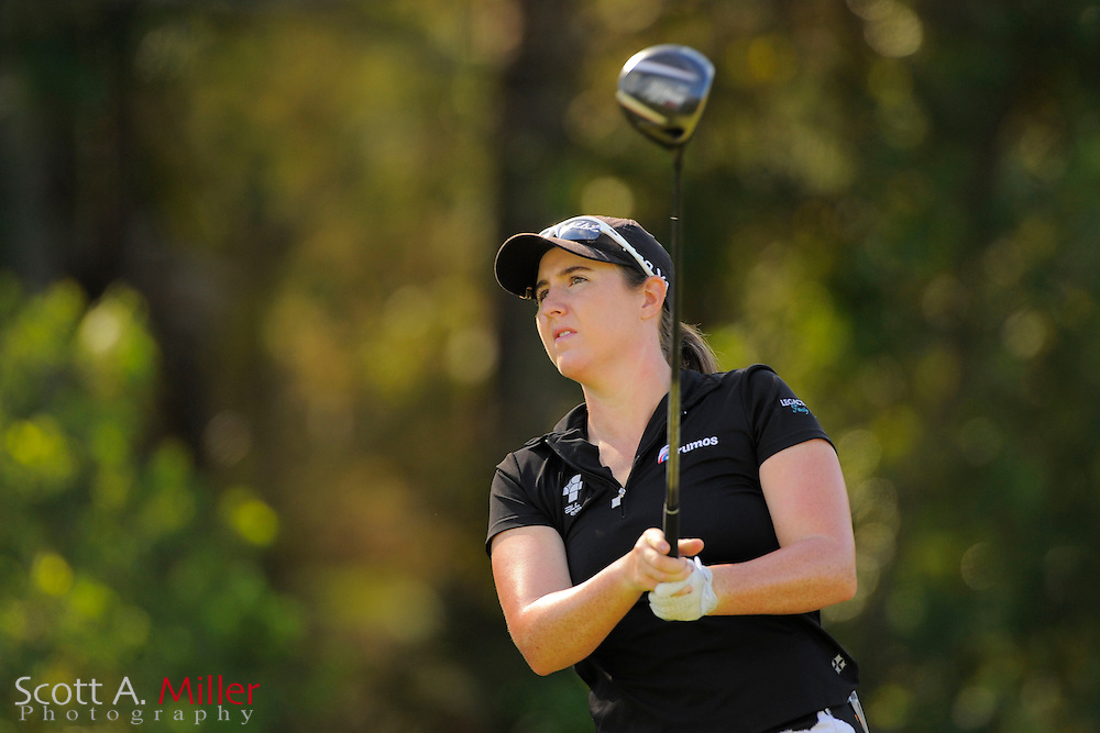 Amelia Lewis during the rain-delayed third round of the Symetra Tour Championship at LPGA International on Sept. 29, 2013 in Daytona Beach, Florida. <br /> <br /> <br /> &copy;2013 Scott A. Miller