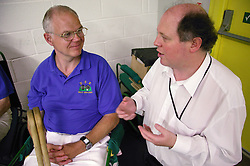 Man with disabilities taking part in a bowls event held at Solihull Indoor Bowls Centre,