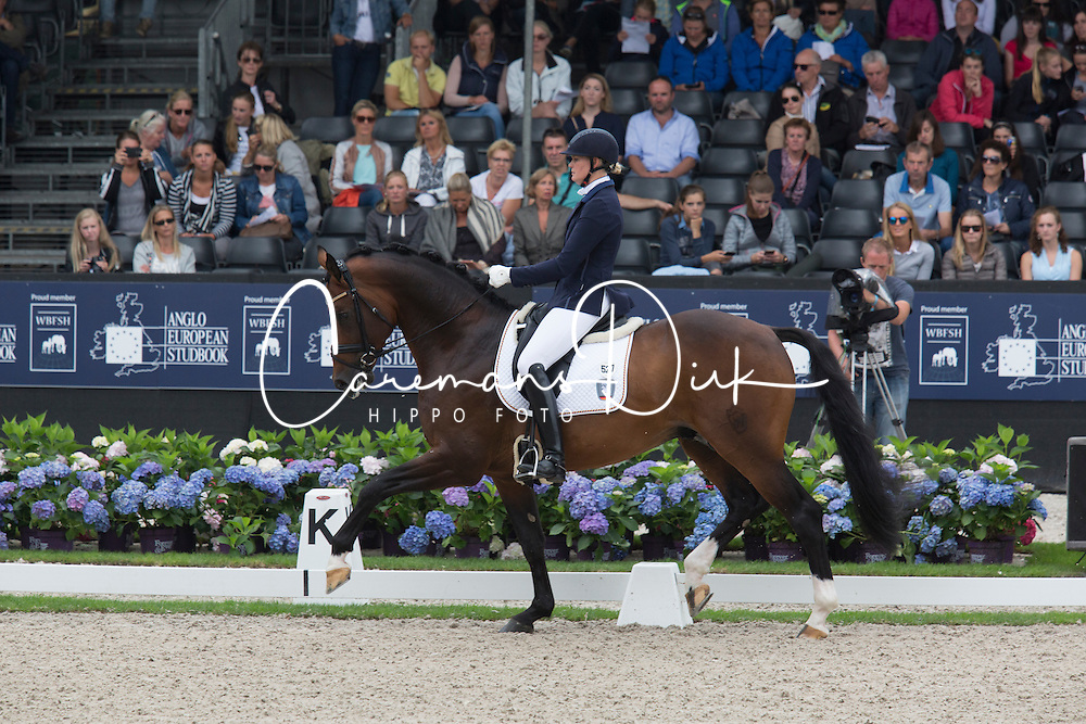 Ruscher Claudia, GER, Baccardi<br /> World Championship Young Dressage Horses <br /> Ermelo 2016<br /> &copy; Hippo Foto - Leanjo De Koster<br /> 30/07/16