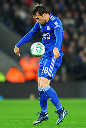 Christian Fuchs of Leicester City controls the ball- Mandatory by-line: Nizaam Jones/JMP- 27/11/2018- FOOTBALL - King Power Stadium- Leicester, England - Leicester City v Southampton - Carabao Cup