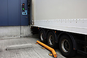 A lorry reversed in a loading bay at Sainsbury's 700,000 sq ft (57,500sq m) supermarket distribution depot at Waltham Point