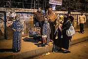 Women and girls on the streets of Dhaka, Bangladesh.