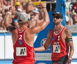 01.08.2013, Klagenfurt, Strandbad, AUT, A1 Beachvolleyball EM 2013, im Bild // during the A1 Beachvolleyball European Championship at the Strandbad Klagenfurt, Austria on 2013/08/01. EXPA Pictures © 2013, EXPA Pictures © 2013, PhotoCredit: EXPA/ Mag. Gert Steinthaler