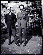two adult men casual posing 1930s
