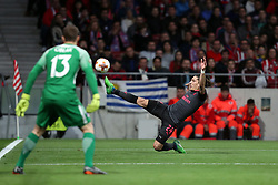 May 3, 2018 - Madrid, Spain - HECTOR BELLERIN of Arsenal FC during the UEFA Europa League, semi final, 2nd leg football match between Atletico de Madrid and Arsenal FC on May 3, 2018 at Metropolitano stadium in Madrid, Spain (Credit Image: © Manuel Blondeau via ZUMA Wire)