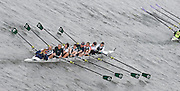 London, Great Britain.<br /> Maidenhead RC. Mixed Masters E-G. competing in the 2016 Veterans&rsquo; Head of the River Race, Reverse Championship Course Mortlake to Putney. River Thames. Sunday  20/03/2016<br /> <br /> [Mandatory Credit: Peter SPURRIER;Intersport images]