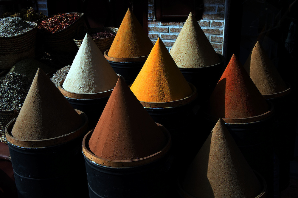 Spices for sale in the bazar of the Kasbah.