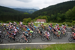The peloton stick together on lap two during Durango-Durango Emakumeen Saria 2018, a 113 km road race starting and finishing in Iurreta, Spain on May 17, 2018. Photo by Sean Robinson/Velofocus.com