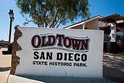 Sign for Old Town San Diego State Historic Park, Old Town San Diego, California, United States of America