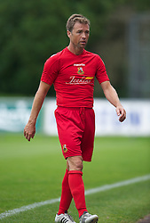 LLANELLI, WALES - Saturday, September 15, 2012: Llanelli's player manager Andy Legg in action against Newtown during the Welsh Premier League match at Stebonheath Park. (Pic by David Rawcliffe/Propaganda)