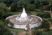 The Thuparama Dagoba at Anuradhapura - site of the earliest dagoba in the country.