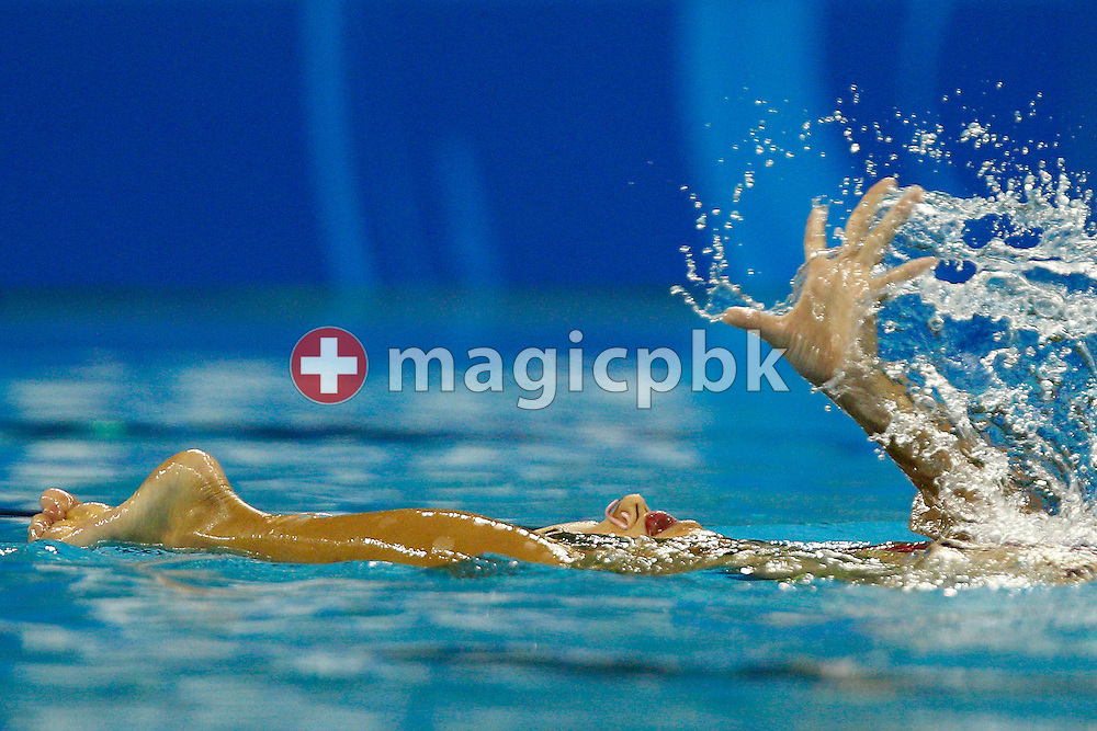 Yumi ADACHI of Japan performs in the Synchronized (synchronised) Swimming Solo Free Final during the 14th FINA World Aquatics Championships at the Oriental Sports Center in Shanghai, China, Wednesday, July 20, 2011. (Photo by Patrick B. Kraemer / MAGICPBK)