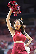 FAYETTEVILLE, AR - NOVEMBER 13:  Pom Squard member of the Arkansas Razorbacks performs during a game against the Southern University Jaguars at Bud Walton Arena on November 13, 2015 in Fayetteville, Arkansas.  The Razorbacks defeated the Jaguars 86-68.  (Photo by Wesley Hitt/Getty Images) *** Local Caption ***