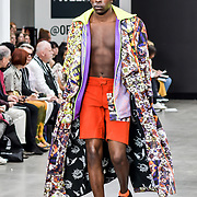 Bath Spa University showcases at Graduate Fashion Week 2019, on 3 June 2019, Old Truman Brewery, London, UK.at Graduate Fashion Week 2019 - Day Two Exhibitions on 3 June 2019, Old Truman Brewery, London, UK.