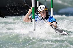 Caroline TROMPETER of Germany during the Canoe Single (WK1) Womens Semi Final race of 2019 ICF Canoe Slalom World Cup 4, on June 28, 2019 in Tacen, Ljubljana, Slovenia. Photo by Sasa Pahic Szabo / Sportida