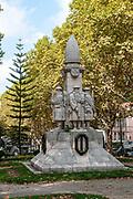 First World War Memorial in the Jardim da Avenida Sa da Bandeira Coimbra, Portugal