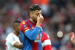 Joel Ward of Crystal Palace looks upset after being on the losing team in The FA Cup Final - Mandatory by-line: Robbie Stephenson/JMP - 21/05/2016 - FOOTBALL - Wembley Stadium - London, England - Crystal Palace v Manchester United - The Emirates FA Cup Final