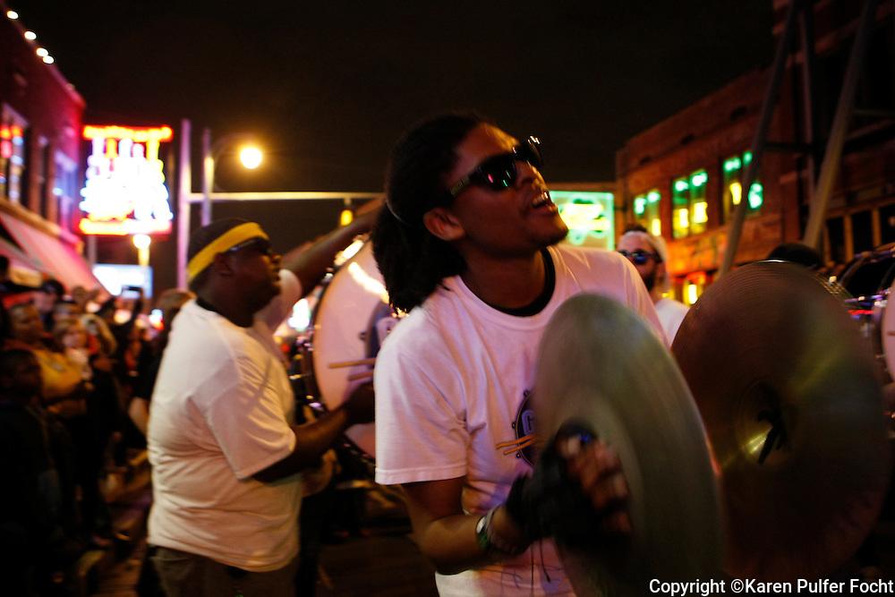 Grizz Line Drum Corp, Street Scenes, Beale Street, Memphis, Tennessee