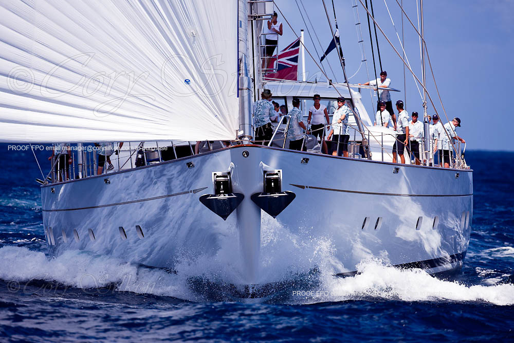 Ethereal sailing during the St. Barth's Bucket 2011 race 1.