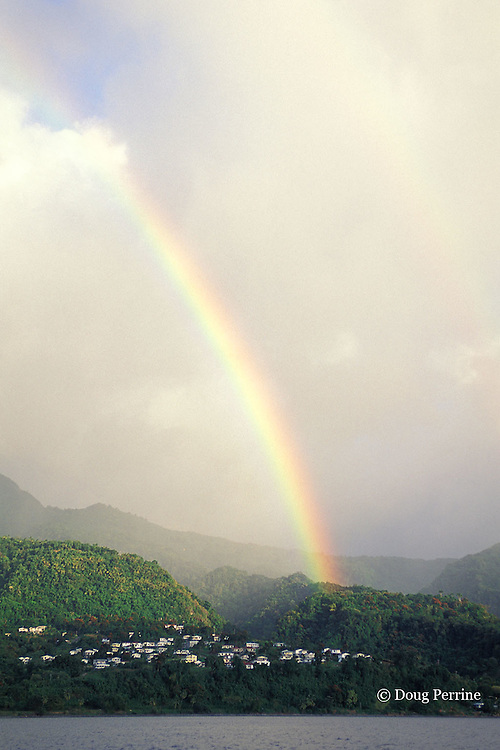 rainbow over Dominica, West Indies ( Eastern Caribbean )