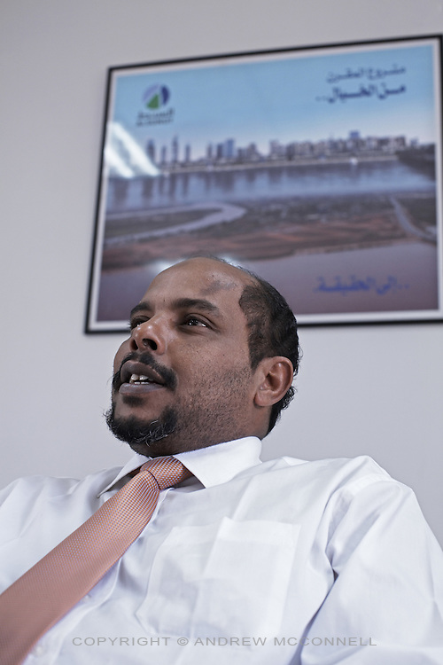 Hani H. El Khidir, Managing Director of the Alsunut Development company, pictured in Khartoum, Sudan, on Thursday, Apr. 12, 2007. Alsunut's Almorgran project will change the face of Khartoum with a new $4bn businss and residential district located at the confluence of the Blue and White Niles..Khartoum is modeling itself as the Dubai of Africa and despite Western sanctions the city is booming. Away from the troubles and poverty that plaque the rest of Sudan, development in Khartoum is moving at an astonishing rate. Investment from the East, and in particular China, allowed the Sudanese economy to grow by 11% in 2007. This growth is driven largely by oil, with production rising from 63,000 barrels per day in 1999 to over 500,000 barrels today.