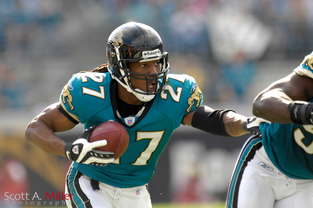 Dec. 9, 2007; Jacksonville, FL, USA; Jacksonville Jaguars cornerback Terry Cousin (21) during his team's game against the Carolina Panthers at Jacksonville Municipal Stadium.                        ©2007 Scott A. Miller..©2007 Scott A. Miller
