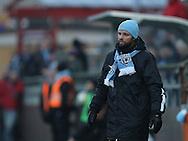 FODBOLD: Cheftræner Christian Lønstrup (FC Helsingør) på sidelinien under træningskampen mellem Malmö FF og FC Helsingør den 28. januar 2017 på Malmö Idrottsplats. Foto: Claus Birch