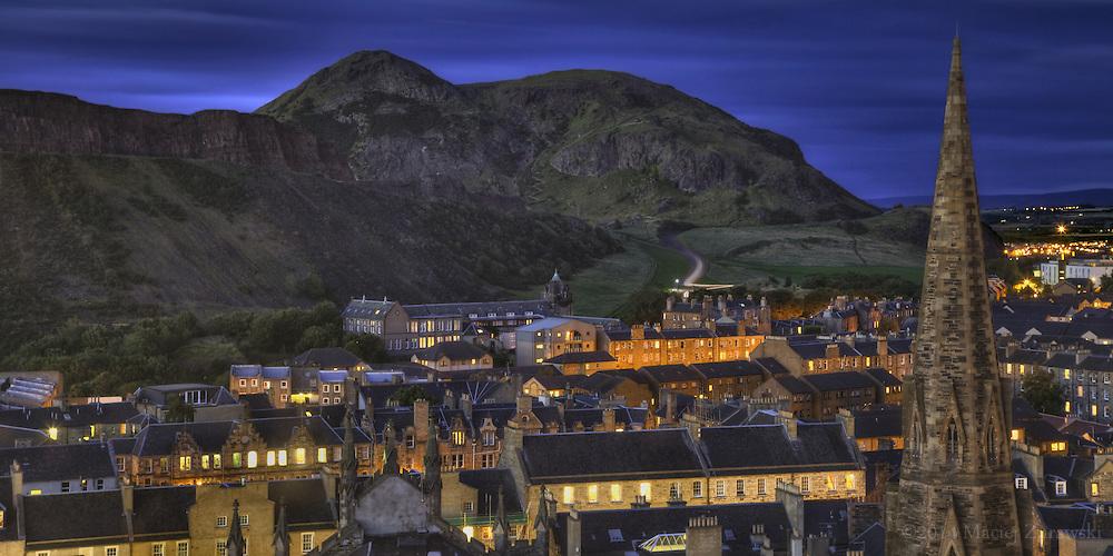 View of Arthur's Seat in Edinburgh.