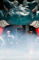 KELOWNA, CANADA - MARCH 5: Justin Kirkland #23 of the Kelowna Rockets enters the ice against the Spokane Chiefs on March 5, 2014 at Prospera Place in Kelowna, British Columbia, Canada.   (Photo by Marissa Baecker/Getty Images)  *** Local Caption *** Justin Kirkland;