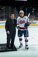REGINA, SK - MAY 20: Sam Steel #23 of Regina Pats is presented the second star of the game against the Acadie-Bathurst Titan at the Brandt Centre on May 20, 2018 in Regina, Canada. (Photo by Marissa Baecker/CHL Images)