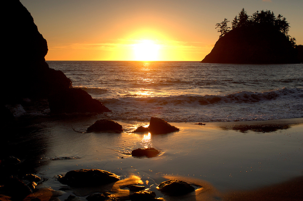 Sunset on Coast, Sea Stacks, Trinidad, California, United States of America