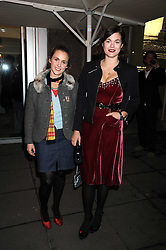 """Left to right, ZITA LLOYD and JASMINE GUINNESS at an exhibition of work by Andy Warhol entitled """"Other Voices, Other Rooms"""" at The Hayward Gallery, Southbank Centre, London SE1 on 6th October 2008."""