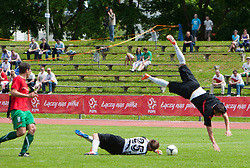 20.05.2012, Dolomitenstadion, Lienz, AUT, UEFA EURO 2012, Testspiel, Polen vs Rapid Lienz, im Bild Julian Roman Fürhapter (Rapid Lienz Keeper) gegen Pawel Brozek (POL) // Julian Roman Fürhapter (Rapid Lienz Keeper) against Pawel Brozek of Poland during test game of polish National Footballteam for preparation UEFA EURO 2012 against Rapid Lienz at Dolomitenstadion, Lienz, Austria on 2012/05/20. EXPA Pictures © 2012, PhotoCredit: EXPA/ Johann Groder