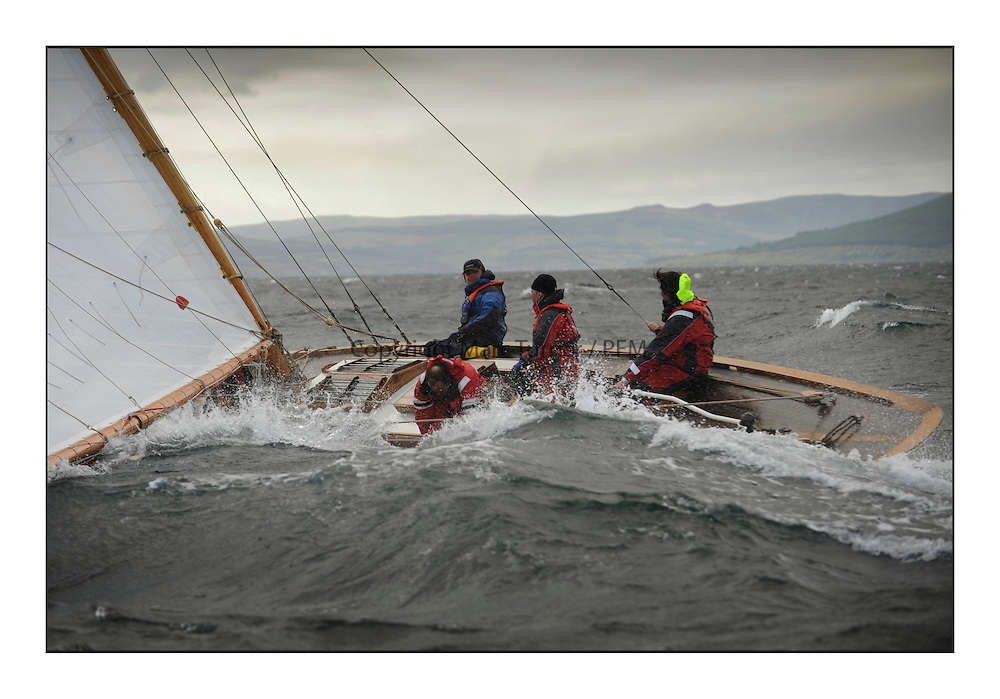 Day five of the Fife Regatta, Race from Portavadie on Loch Fyne to Largs. <br /> <br /> The Truant, Ross Ryan, GBR, Gaff Cutter 8mR, Wm Fife 3rd, 1910<br /> <br /> * The William Fife designed Yachts return to the birthplace of these historic yachts, the Scotland&rsquo;s pre-eminent yacht designer and builder for the 4th Fife Regatta on the Clyde 28th June&ndash;5th July 2013<br /> <br /> More information is available on the website: www.fiferegatta.com