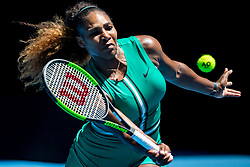 January 23, 2019 - Melbourne, Australia - SERENA WILLIAMS of the USA in action during her quarter final match against Karolina Pliskova of the Czech Republic at the Australian Open in Melbourne. Pliskova won 6:4, 4:6, 7:5. (Credit Image: © Jason Heidrich/Icon SMI via ZUMA Press)