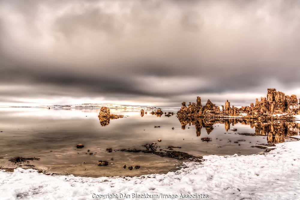 Pogonip Fog Over Mono Lake and Tufa in Winter