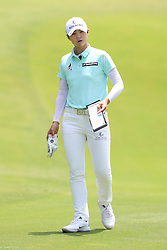 March 2, 2019 - Singapore - Sung Hyun Park looks at the green before playing a shot on the 8th hole during the third round of the Women's World Championship at the Tanjong Course, Sentosa Golf Club. (Credit Image: © Paul Miller/ZUMA Wire)