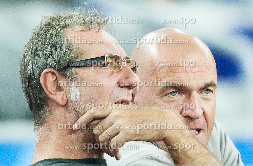 Zoran Cutura, Aramis Naglic  during basketball match between Slovenia vs Netherlands at Day 4 in Group C of FIBA Europe Eurobasket 2015, on September 8, 2015, in Arena Zagreb, Croatia. Photo by Vid Ponikvar / Sportida