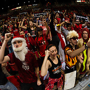 09 December 2017:  The San Diego State men's basketball team hosts the California Golden Bears Saturday afternoon. SDSU's student section The Show gets the crowd pumped up prior to taking on Cal. The Aztecs trail 39-34 at halftime.<br /> www.sdsuaztecphotos.com