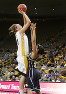 28 NOVEMBER 2007: Iowa center Megan Skouby (44) puts up a shot over the defender in the first half of Georgia Tech's 76-57 win over Iowa in the Big Ten/ACC Challenge at Carver-Hawkeye Arena in Iowa City, Iowa on November 28, 2007.