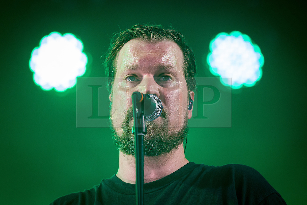 © Licensed to London News Pictures . 19/07/2013 . Suffolk , UK . John Grant performs on the BBC6 Music Stage . The Latitude music and culture festival in Henham Park , Southwold . Photo credit : Joel Goodman/LNP
