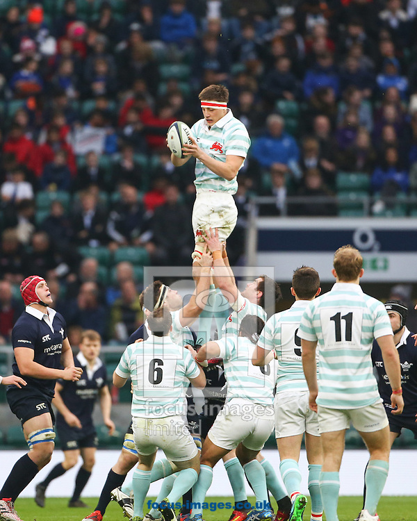 Tim Bond of Cambridge University catches in the line out during The Varsity Match at Twickenham Stadium, Twickenham<br /> Picture by Mark Chappell/Focus Images Ltd +44 77927 63340<br /> 08/12/2016