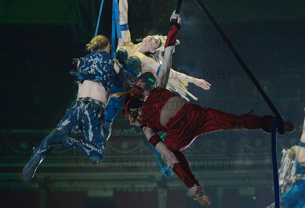 26.02.2016 Cirque Du Soleil performing AMALUNA at The Royal Albert Hall London UK Grande Finale